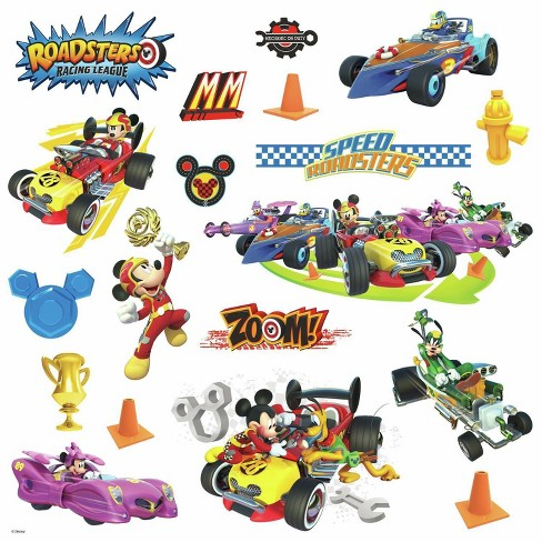 Roommates Disney Mickey Mouse Friends Mickey And The Roadster Racers Peel And Stick Wall Decals Target