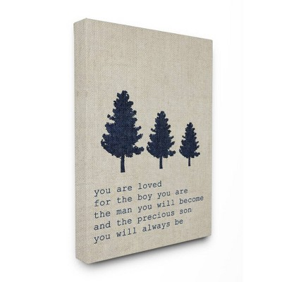 16 x1.5 x20  You Are Loved Son Trees Stretched Canvas Wall Art - Stupell Industries