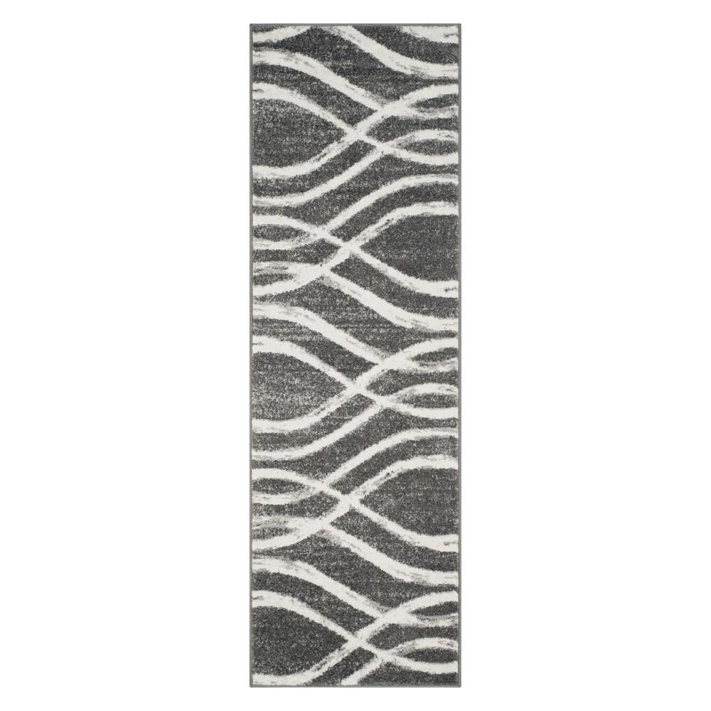 26X6 Wave Runner Charcoal/Ivory - Safavieh, Gray White