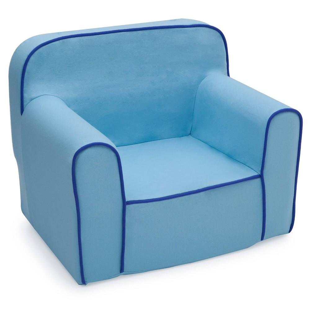 Image of Foam Snuggle Chair Blue - Delta Children