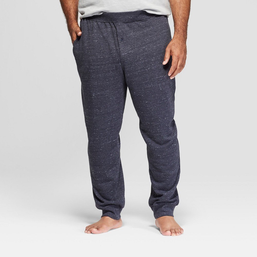 Men's Tall French Terry Pajama Pants - Goodfellow & Co Navy (Blue) 2XLT