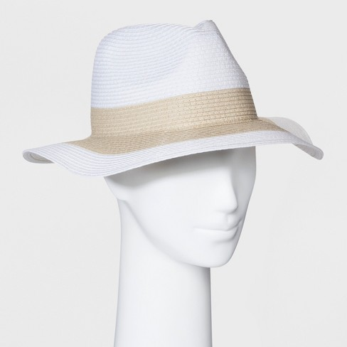 Women's Blocked Panama Hat - A New Day™ Natural Tan - image 1 of 2