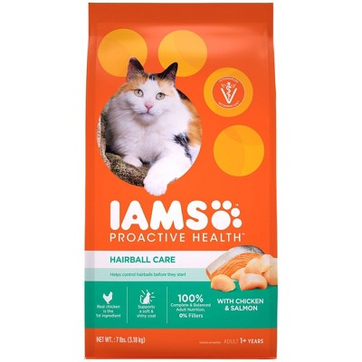 Iams Proactive Health Hairball Care with Chicken & Salmon Adult Premium Dry Cat Food