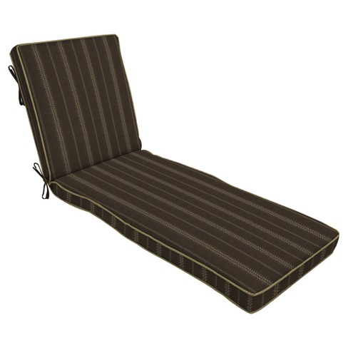 Trevor Stripe Espresso Chaise Cushion - Bombay® Outdoors - image 1 of 1