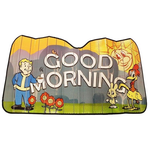 Just Funky Fallout Good Morning Accordion Auto Sunshade | Xbox Game Merchandise - image 1 of 3