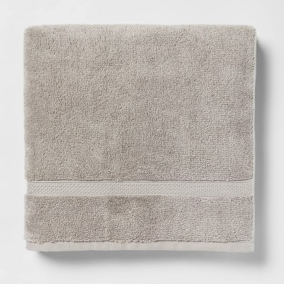 Perfectly Soft Solid Bath Towel Gray - Opalhouse™