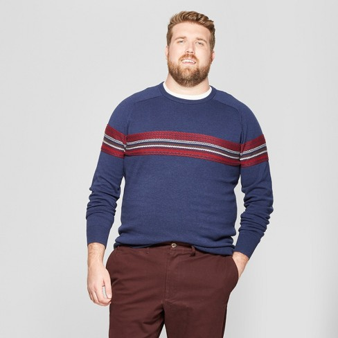 Men's Big & Tall Crew Neck Sweater - Goodfellow & Co™ Navy - image 1 of 3