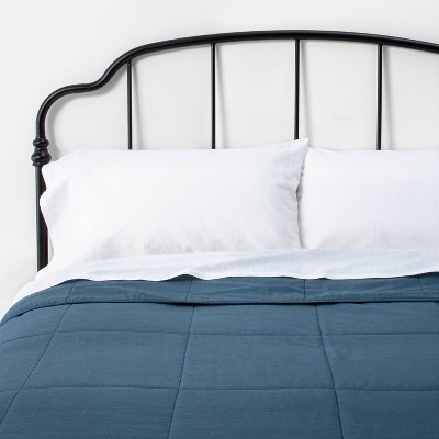 Full/Queen Solid Quilt Navy - Hearth & Hand™ with Magnolia