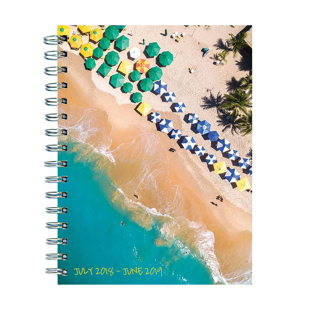 2018 - 2019 Academic Spiral Ocean Getaway Planner, Tropical Beach