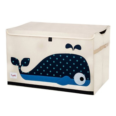 Whale Fabric Trunk Toy Bin - 3 Sprouts