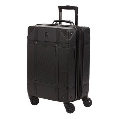 """SWISSGEAR 19"""" Hardside Trunk Carry On Suitcase - Black"""