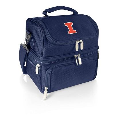 NCAA Illinois Fighting Illini Pranzo Dual Compartment Lunch Bag - Blue