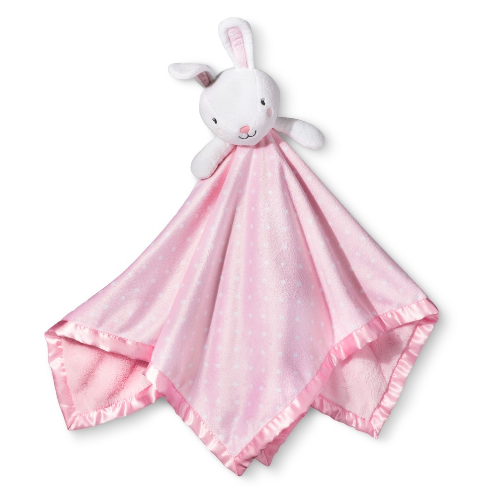 Image of Large Security Blanket Bunny - Cloud Island Light Pink, White Pink