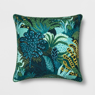 Embroidered Leaf Printed Oversize Square Throw Pillow - Opalhouse™