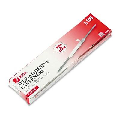 "ACCO Self-Adhesive Paper File Fasteners 2"" Capacity 2 3/4"" Center 100/Box 70020"