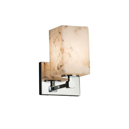 "Justice Design Group ALR-8421-15 Alabaster Rocks 6"" Tetra 1 Light Wall Sconce - image 1 of 1"