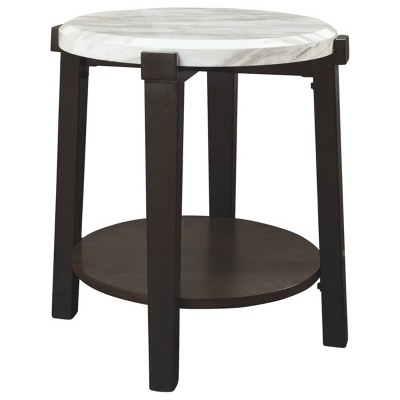 Janilly End Table Dark Brown/White - Signature Design by Ashley