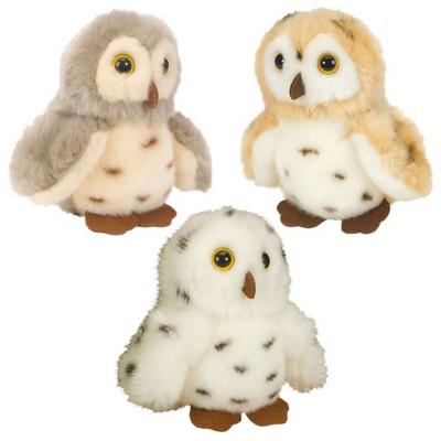 Wild Republic Itsy Bitsies Plush Spotted Owls - Set of 3