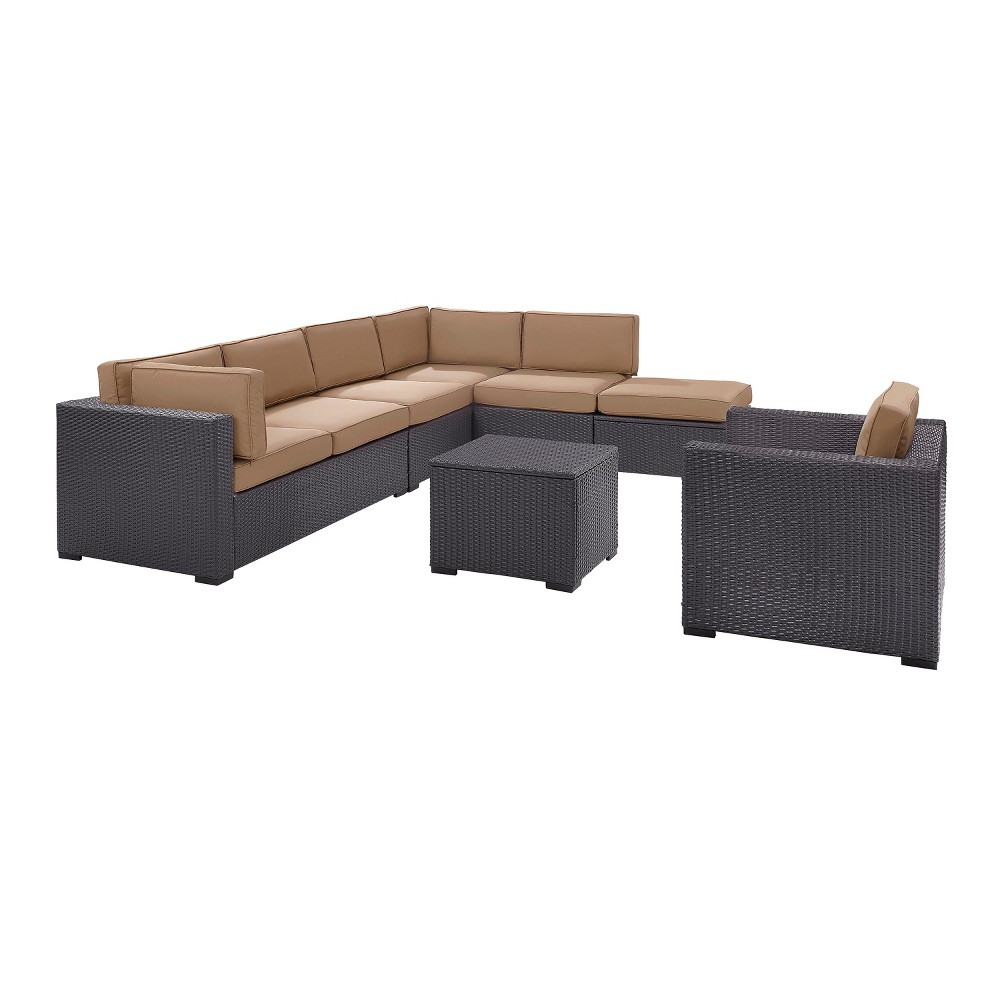Biscayne 6pc All-Weather Wicker Seating Set - Mocha (Brown) - Crosley