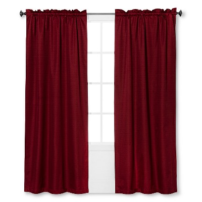 Braxton Thermaback Light Blocking Curtain Panel Red (42 x63 )- Eclipse™