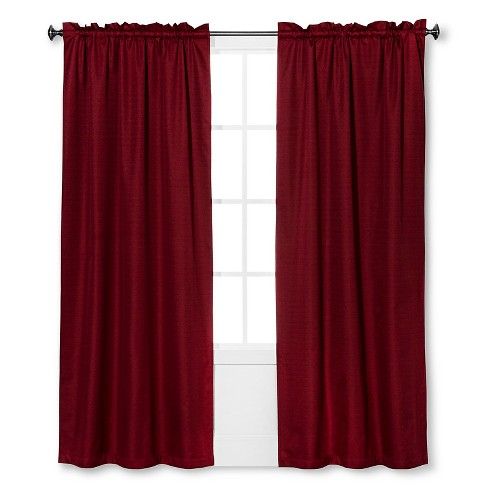 "Braxton Thermaback Light Blocking Curtain Panel Red (42""x63"") - Eclipse™ - image 1 of 1"