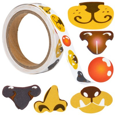 Ready 2 Learn Creative Sticker Roll - Noses - 600 Self-Adhesive Stickers - 6 Different Noses for Crafts - Make Your Own Face