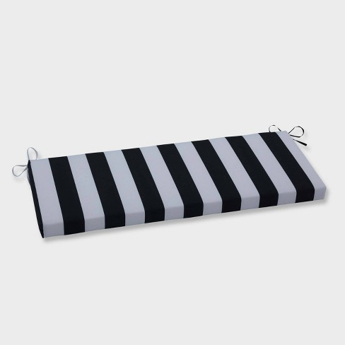 Enjoyable Cabana Stripe Outdoor Bench Cushion Black Pillow Perfect Caraccident5 Cool Chair Designs And Ideas Caraccident5Info