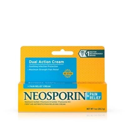 Neosporin Plus Pain Relief Maximum Strength First aid Antibiotic Cream - 1oz