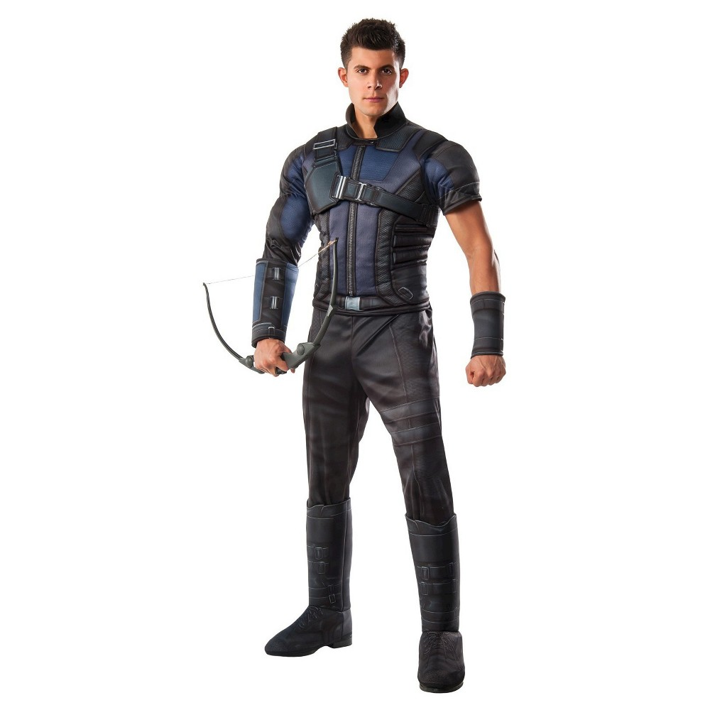 Marvel's Captain America: Civil War Men's Deluxe Muscle Chest Hawkeye Costume One Size