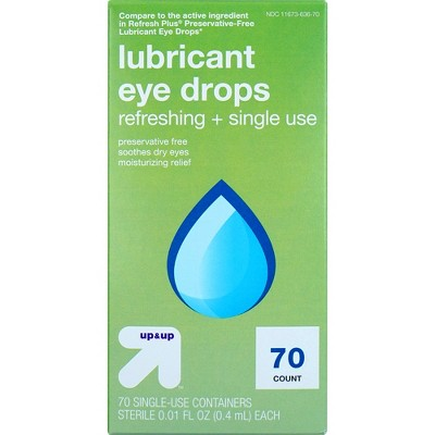 Lubricant Single Use Eye Drops - 70ct - up & up™