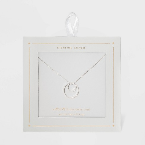 Sterling Silver Double Circle Necklace - Silver - image 1 of 3