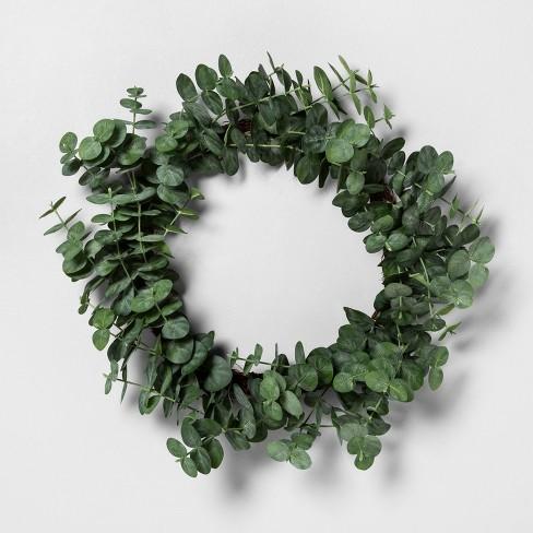 Faux Eucalyptus Wreath - Hearth & Hand™ with Magnolia - image 1 of 3