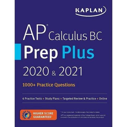AP Calculus BC Prep Plus 2020 & 2021 - (Kaplan Test Prep) (Paperback) - image 1 of 1