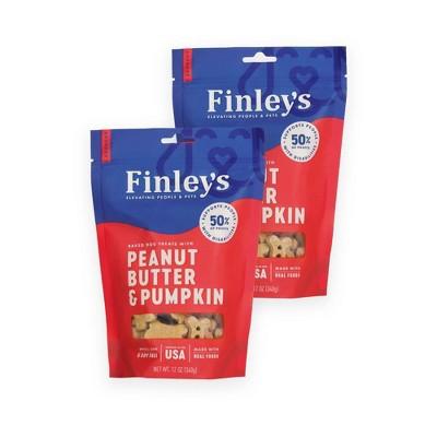 Finley's Peanut Butter and Pumpkin Dog Treats