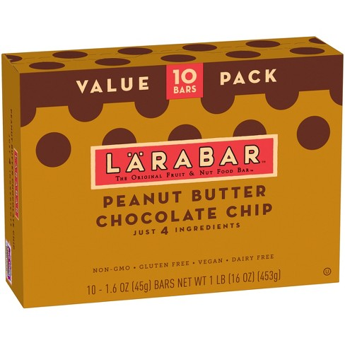 Larabar™ Peanut Butter Chocolate Chip Nutrition Bar - 16oz - 10ct - image 1 of 2