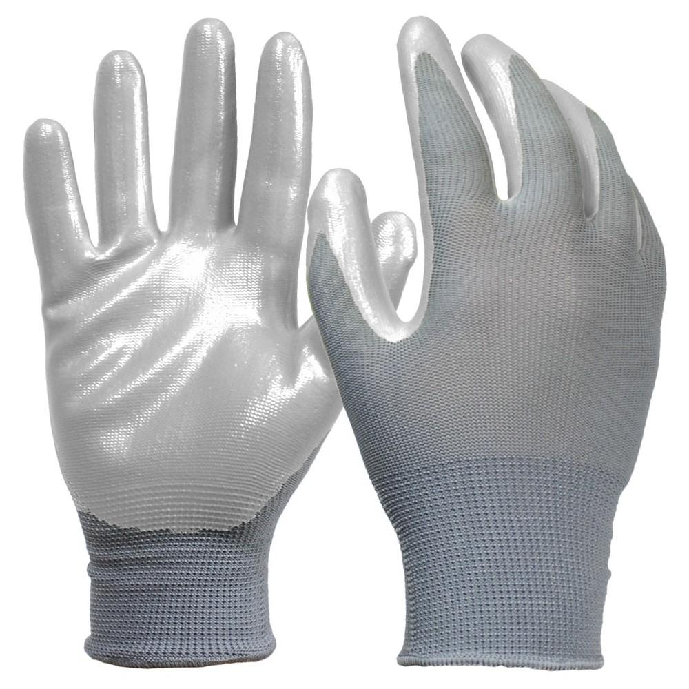 Digz Nitrile Diped Glove - Gray