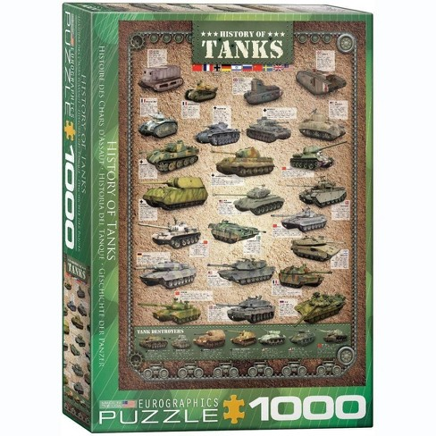 Eurographics Inc. History of Tanks 1000 Piece Jigsaw Puzzle - image 1 of 4