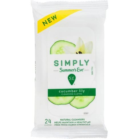 Simply Summer's Eve Cucumber Lily Feminine Wipes - 24ct - image 1 of 5
