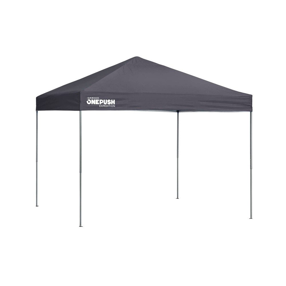 Quik Shade Expedition One Push 10x10 Straight Leg Canopy - Gray