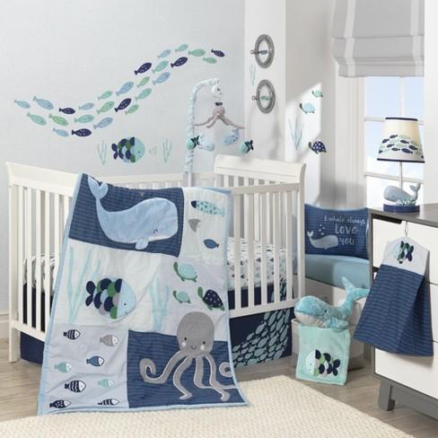 Lambs Ivy Oceania 6 Piece Baby Crib, Beach Themed Baby Crib Bedding