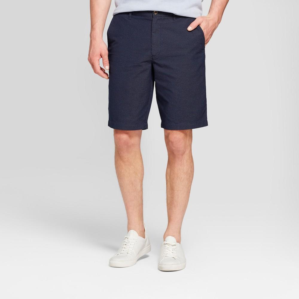 Men's 10.5 Seersucker Linden Flat Front Shorts - Goodfellow & Co Navy (Blue) 38