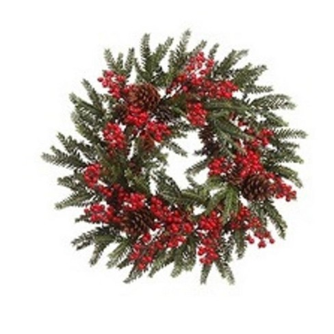 Small Christmas Wreaths.Allstate 22 Unlit Red Berry And Pine Cone Artificial Christmas Wreath