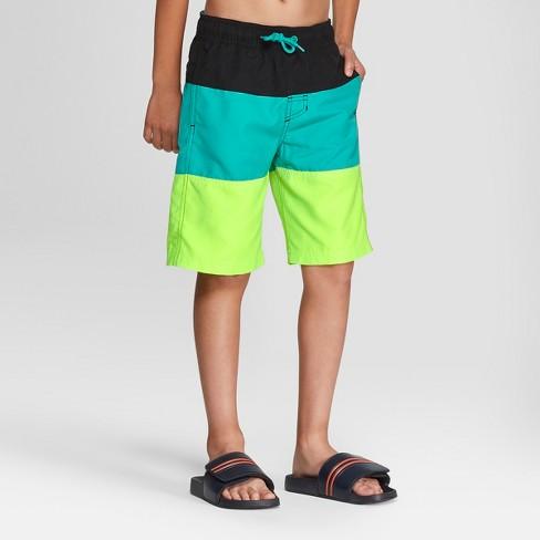 68d8f5a22ccd3 Boys' Swim Trunks - Cat & Jack™ Lime XL : Target