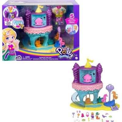 Polly Pocket Rainbow Funland Mermaid Cove Ride Playset