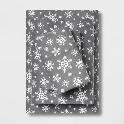Holiday Print Flannel Sheet Set - Wondershop™