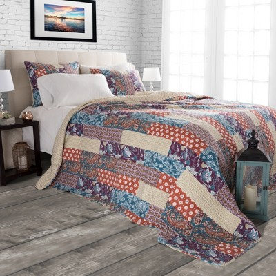 Cabin and Lodge Santa Fe Quilt Set (King)3pc - Yorkshire Home