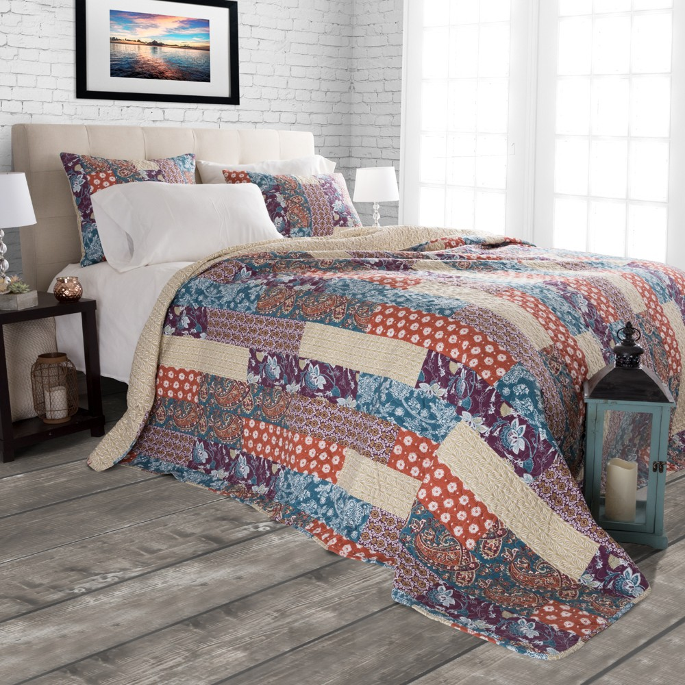 Cabin and Lodge Santa Fe Quilt Set (Twin) 2pc - Yorkshire Home, Multicolored