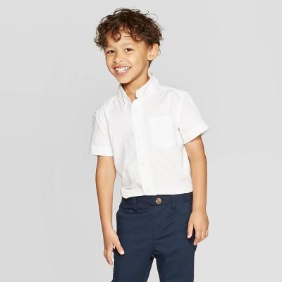 Toddler Boys' Uniform Short Sleeve Button-Down Shirt - Cat & Jack™ White