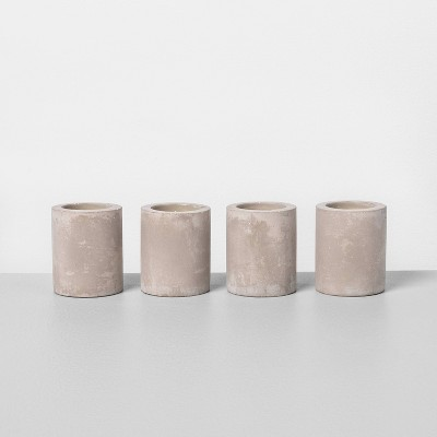 4pk Small Cement Candle Unscented - Hearth & Hand™ with Magnolia
