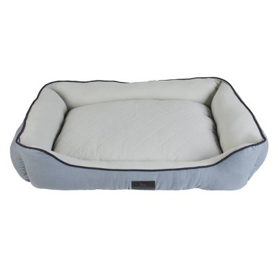Sporting Dog Solutions Rectangle Cuddler Dog Bed - Gray